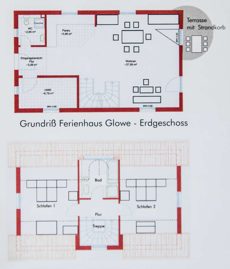 Ferienhaus Grundriss